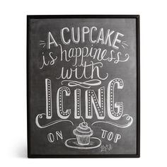 Lily & Val Cupcakes Black & White Framed Picture (W)30cm (H)40cm | Departments | DIY at B&Q