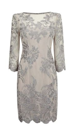 Lace dress embroidered embroidery round 7 points sleeve dress. brides maids.. or a nice dress for mom.
