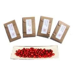 4 Cape Cod Cranberry Sachets Scented by pebblecreekcandles on Etsy,