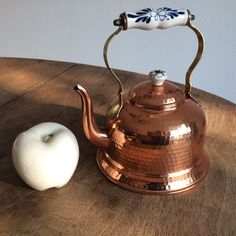 French vintage copper KETTLE like new never used 1970 de la boutique FELIXsoFRENCH sur Etsy
