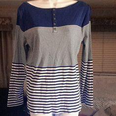 5a85315abdf30 Blue striped Ann Taylor blouse Blue striped Ann Taylor blouse Ann Taylor  Tops Blouses Blue Blouse