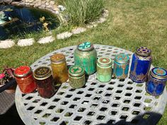 DIY Moroccan Lanterns out of glass jars, transparent glass paint, and gold puff paint Bridal Shower Planning, Baby Planning, Moroccan Lanterns, Moroccan Decor, Transparent Glass Paint, Sister Shower, Arabian Nights Party, Puff Paint, Arts And Crafts