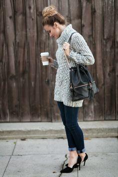 OOTD: Chunky Knitwear + Fishtail Bun #HelloGorgeous