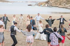 monastiri paros, mariage a la plage, grece, dances, wedding in paros, the couple, wedding dress, sand, traditional music