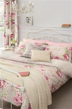 Vintage Look Floral Print Duvet And Pillowcase Set- Nextdirect.com  $58.00