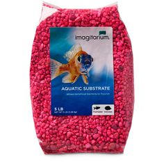 Imagitarium+Neon+Pink+Aquarium+Gravel+-+5+lbs.+Gravel+aids+in+propagation+of+beneficial+bacteria.+Adds+depth+and+beauty+to+aquariums,+water+gardens,+ponds+and+terrariums.+Made+of+non-toxic+fish+safe+materials+and+colors.+Safe+for+use+in+freshwater+and+marine+environments. - https://www.petco.com/shop/en/petcostore/product/imagitarium-neon-pink-aquarium-gravel