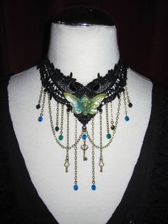 Lace Choker Collier Necklace Victorian Fairy Bohemian by Ravennixe, $59.00