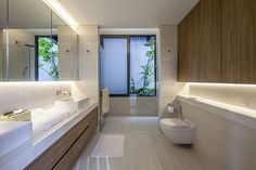 Modern storey semi-detached house design by Wallflower Architecture + Design Property Design, Design Hotel, Home Design, Design Ideas, Semi Detached, Detached House, Singapore House, Architecture Design, Bad Styling
