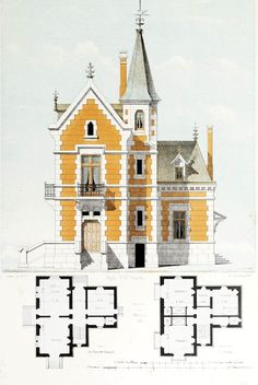 Ideas Exterior House Sketch Home Plans For 2019 Victorian House Plans, Vintage House Plans, Victorian Homes, Architecture Classique, Victorian Architecture, Architecture Mapping, Architecture Plan, Maps Design, Design Design