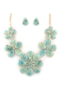 Madeline Necklace in Water Blue on Emma Stine Limited