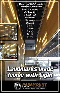 Landmarks made Iconic with Light. Unique Lighting, Industrial Lighting, Visual Effects, Public, Medical, Led, Education, Medicine, Learning