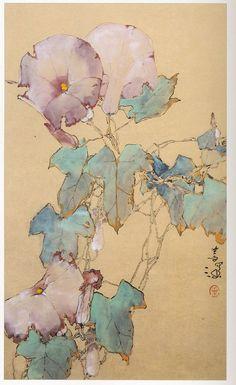 Yang Shanshen(杨善深) ,   牽牛花 1993年作