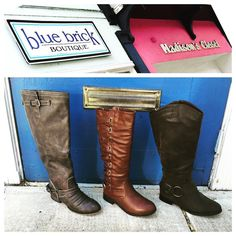 Fall for Boots! Come see our collection!! #madisonsbluebrick #boots #fallfashion #boutiqueshopping #downtownhotsprings