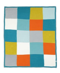 Pixie & Finch - Boys Knitted Blanket - 110 x 140cm - Bedding - Mamas & Papas