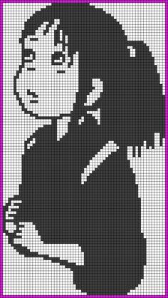 Chihiro Ogino - Spirited Away perler bead pattern