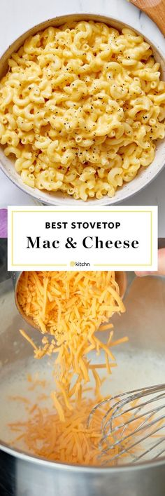 This stovetop mac and cheese is super easy. Just add some cheddar, Monterey Jack, or Colby to your macaroni with a healthy dose of milk and whatever toppings your heart desires. Think ham, bacon, onion or peas! Good Macaroni And Cheese Recipe, Quick Mac And Cheese, Mac And Cheese Sauce, Stovetop Mac And Cheese, Creamy Macaroni And Cheese, Macaroni Recipes, Pasta Cheese, Creamy Cheese, Colby Jack Mac And Cheese Recipe