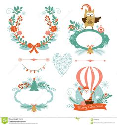 christmas elements - Google Search
