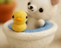 Bebé oso en baño batanado DIY Kit de agujas