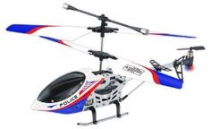 RC Helicopter - Gyro Police by thu. $80.47. About RC Helicopter - Gyro Police * Gyro Police RC Helicopter is a super fun micro remote controlled helicopter! * 3 channel flight (gyroscopic) control system with auto-balance * Sleek white, red and blue police design * Features red & blue flashing lights on its side and tail * Flies up and down, forward and back, left and right * Remote control range approx 10 meters * Remote control helicopter itself has an operational range of 15 m...