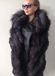 Bolero jacket coat vest fur fox
