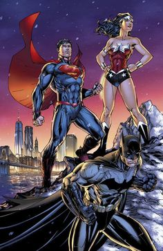 Superman, Wonder Woman, and Batman by Jim Lee *