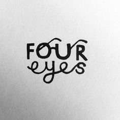 An interesting design for the concept of four eyes.