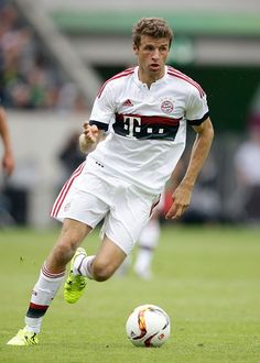 Thomas Muller of FC Bayern Munchen during the Telekom Cup friendly match between Bayern Munich and FC Augsburg on July 12 2015 at the Borussia Park...