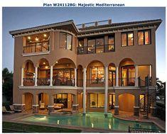 Mediterranean style beach house