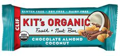 Kit's Organic Chocolate Almond Coconut Bar. Don't call it a candy bar.