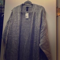 Long open sweater Brand new long sweater that is perfect for the cold weather. H&M Sweaters