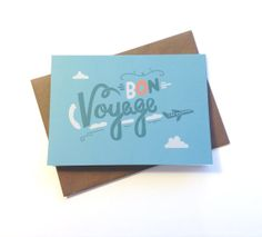 Bon Voyage Illustrated Greeting Card by stephsayshello