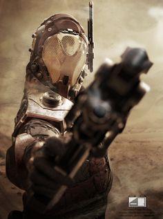 Martian CID Commander (Promo Art) by Adrian Bobb
