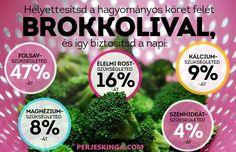 Van, aki egyenesen ezt állítja a brokkoliról. Healthy Drinks, Healthy Cooking, Healthy Tips, Healthy Recipes, Eating Well, Clean Eating, Smoothie Fruit, Fun Facts, Healthy Lifestyle