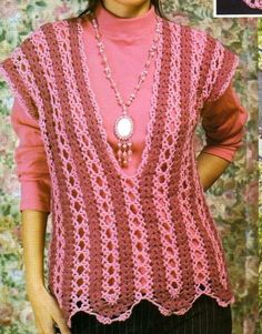 Mile-a-minute crochet top with diagram