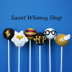 12 Cake Pops for a wizard or magic birthday by SweetWhimsyShop