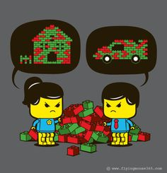 Tee Shirt Illustration - 2012 (Q3 - 2nd Batch) by Chow Hon Lam,  hahah so true even as a mom playing lego