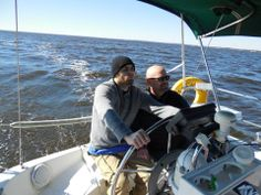 Dr. Ski and his son, Josh, sailing for the first time. Josh and his father work together to make Gene Smart Wellness as intimate, personal and caring as possible.