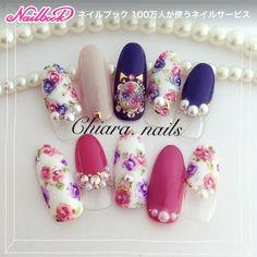Flower. nail♡ Instagram → yochan4.nail #YokoShikata♡キアラ #ネイルブック