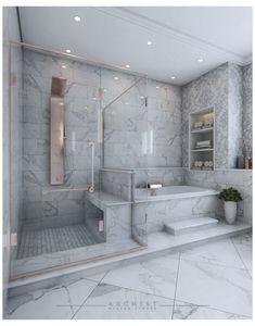 Master Suite Bathroom, Luxury Master Bathrooms, Bathroom Design Luxury, Dream Bathrooms, Master Bathroom Designs, Modern Luxury Bathroom, Bathroom Layout, Bathroom Ideas, Small Bathroom