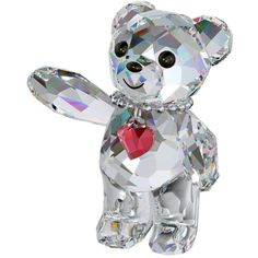 Swarovski Kris Bear 20th Anniversary Figurine, L.E.2013 ($45) ❤ liked on Polyvore featuring home, home decor, bear figurines, krisvanassche and bear home decor