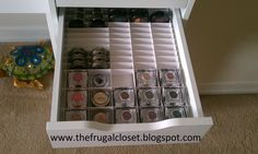 How to organise a make up drawer- the best way ever! The Frugal Closet: The IKEA Alex Storage