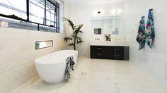 The Block 2016 julia and sasha bathroom ensuite 1 Bathroom Wall Tile, Ensuite Bathrooms, Bathroom Solutions, Interior, Bathroom Renos, Rooms Reveal, The Block Bathroom, Kitchens Bathrooms, Bathroom Renovations