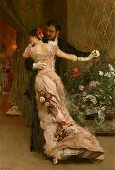 fuckyeahvictorians: runawayrose: The End of the Ball by Rogelio de Egusquiza. Via. oh the dress!