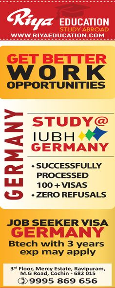 Be in Germany and secure your future.  Get in touch with Riya Education. Visit our website.