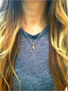 Tiny Hammered Arrowhead Necklace - elladolce