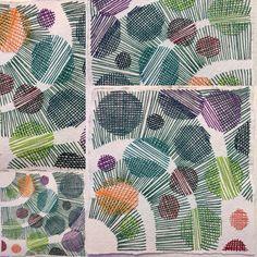 """#kombination #stygn #papper #tråd #lin #stitches #paper #thread #linen"" Karin…"