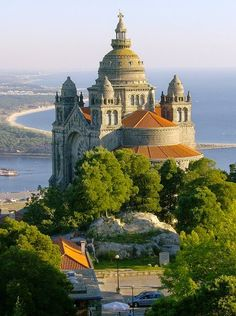 I want to visit Portugal. (Photo of Basilica de Santa Luiza, Viana do Castelo, Portugal) Places Around The World, Oh The Places You'll Go, Places To Travel, Places To Visit, Around The Worlds, Beautiful Castles, Beautiful Buildings, Beautiful World, Beautiful Places