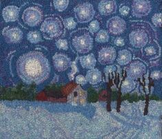 Karen Gaskin of Massachusetts; great reflective light on the snow from the night sky & twinkling stars & bright moon
