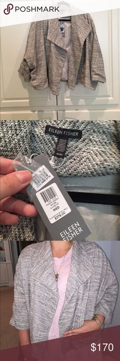 Eileen Fisher heather jacket/blazer Relaxed fit, gorgeous Eileen Fisher jacket. Great with dress clothes or denim. Great piece, can fit up to size XL in my opinion. NWT Eileen Fisher Jackets & Coats