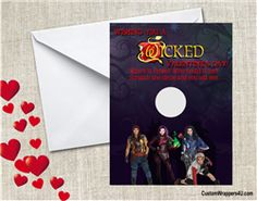 The Descendants valentines day scratch off card